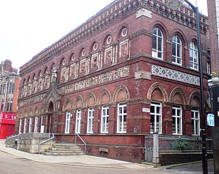 building in Burslem, Stoke-on-Trent, Staffordshire, UK