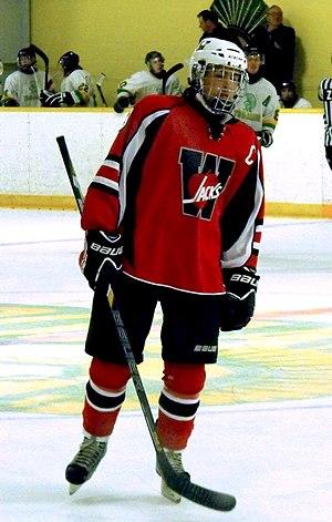 Midwestern Junior C Hockey League - Wellesley Applejacks player in 2014.