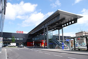 Wels Hauptbahnhof - The station building