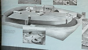 Royal palace of Werla - Reconstruction of the upper fortress of Werla Palace on a public display for visitors