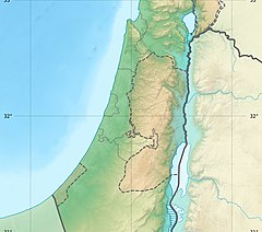Relief map of the West Bank and surrounding area