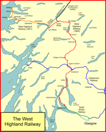 West highland railway wikipedia system map of the west highland railway publicscrutiny Gallery