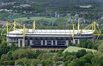 North Rhine-Westphalia - Signal Iduna Park, the stadium of Bundesliga club Borussia Dortmund, is the largest stadium in Germany