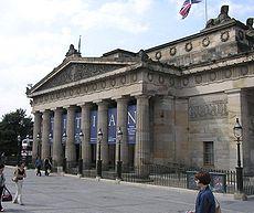 At the Royal Scottish Academy, Edinburgh (1822-26), William Henry Playfair employs a Greek Doric octastyle portico