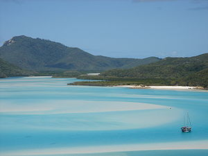 Hill inlet, north of Whitehaven Beach