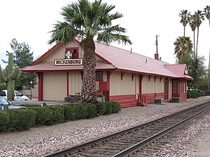 Die ehemalige Santa Fe Station in Wickenburg