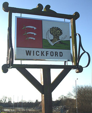 Robert Wikeford - Image: Wickford sign 1