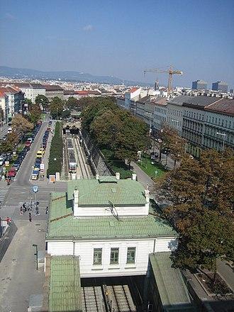 Gürtel, Vienna - Burggasse-Stadthalle station of the U6 line, towards the north