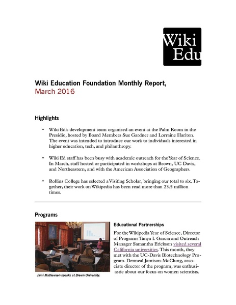File:Wiki Education Foundation Monthly Report 2016-03.pdf