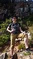 Wikimania 2018 Doc James on Table Mountain.jpg