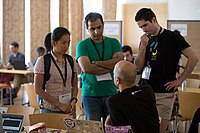 Wikimedia Hackathon Vienna 2017-05-19 Hacking Gurkerl 011.jpg