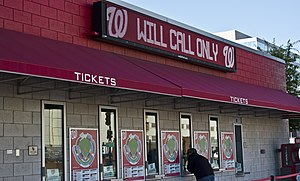 Will call - A will call ticket line in Nationals Park