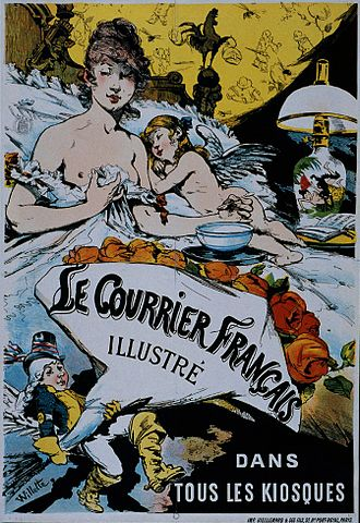 Le Courrier français (1884–1914) - Poster by Adolphe Willette