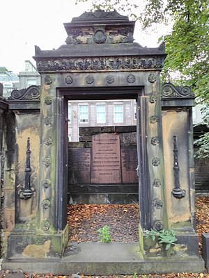 William Blackwood - William Blackwood's grave, Old Calton Cemetery, Edinburgh