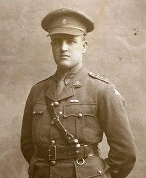 Bill McCann - McCann as a captain in 1917–1918