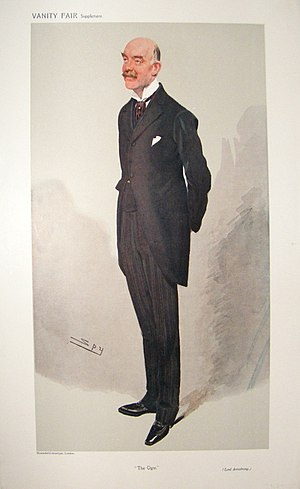 "William Watson-Armstrong, 1st Baron Armstrong - ""The Ogre"", caricature by Spy in Vanity Fair, 1908."