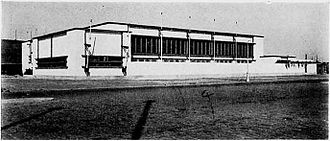 Schermzaal - Fencing Hall for the 9th Olympiad, Amsterdam
