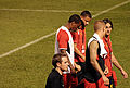 Wisdom, Suso, Eccleston, Skrtel & Aquilani walk off after the game..jpg