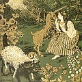 Wolf in Sheep's Clothing - Józef Mehoffer - Sztuka polska - Malarstwo 1903 (detail).jpg