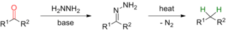 Wolff–Kishner reduction - Scheme 1. Wolff-Kishner Reduction