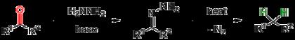 Schema 1. Wolff-Kishner-Reduktion