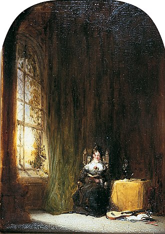 William Roxby Beverly - Woman Reading in an Interior, oil painting by William Roxby Beverly