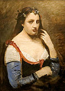 Woman with daisies Camille Corot.jpg