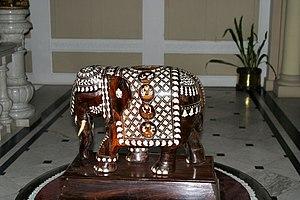 Mysore Rosewood Inlay - inlaid wood carving, Lalitha Mahal Palace Hotel