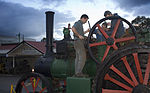 Workers fixing a 1800s steam train engine, Auckland - 0959.jpg