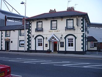 Wrexham A.F.C. - The Turf Hotel, the building in which the club was founded in 1864