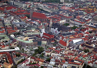 Munich - Aerial view of Munich
