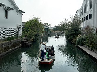Yanagawa, Fukuoka - Canal in Yanagawa, and as known for sightseeing spot in Kyushu