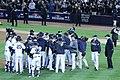Yankees celebrate ALDS Game 5 victory 10-12-12 (9).jpeg