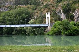 Suspension bridge over the Rhone