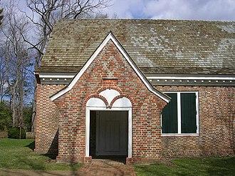 Yeocomico Church - Image: Yeocomico Church Porch