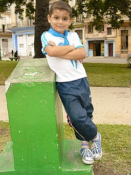 Young Boy in Confident Pose - Centro Habana - Havana - Cuba