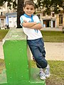 Young Boy in Confident Pose - Centro Habana - Havana - Cuba.JPG