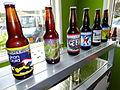 Yukon Brewing Brands Lined Up in Brewery - Yukon Brewing Company - Whitehorse - Yukon Territory - Canada.jpg