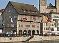 Zürich - Limmatquai - Zunfthaus zum Rüden - Zimmerleuten - Wühre IMG 6256 ShiftN.jpg