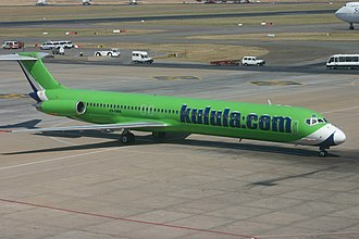 Kulula.com - A former Kulula MD-82, acquired by the airline in 2004.