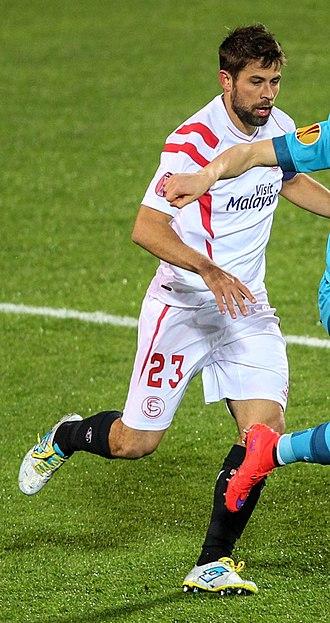 Coke (footballer) - Coke playing for Sevilla in 2015