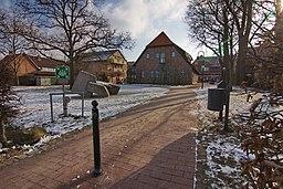 Ortsblick Großburgwedel (Burgwedel), Niedersachsen, Deutschland.