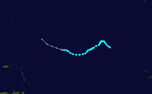 Tropical Storm Zeta - Image: Zeta 2005 track