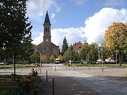 Zinzendorf Square with Moravian Church