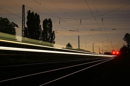 bulb exposure of a train
