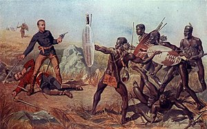 Shaka - Shaka dismissed firearms as ineffective against the quick encirclements of charging spearmen. Though it ultimately failed against more modern rifle and artillery fire in 1879, this practice proved partially successful at Isandlwana.