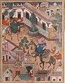 """The Spy Zambur Brings Mahiya to the City of Tawariq"", Folio from a Hamzanama (Book of Hamza) MET sf23-264-1a.jpg"