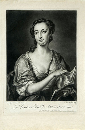 "Semele (Handel) - Èlisabeth Duparc, called ""La Francesina"", who created the role of Semele"