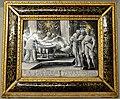 Écouen (95), château, 2e étage, salle Arts du feu, Psyché et l'Amour à table, émail sur cuivre, Léonard Limosin, 1543.jpg