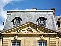 Épinay-Champlâtreux (95), château de Champlâtreux, façade principale ouest, pavillon nord, fronton.jpg
